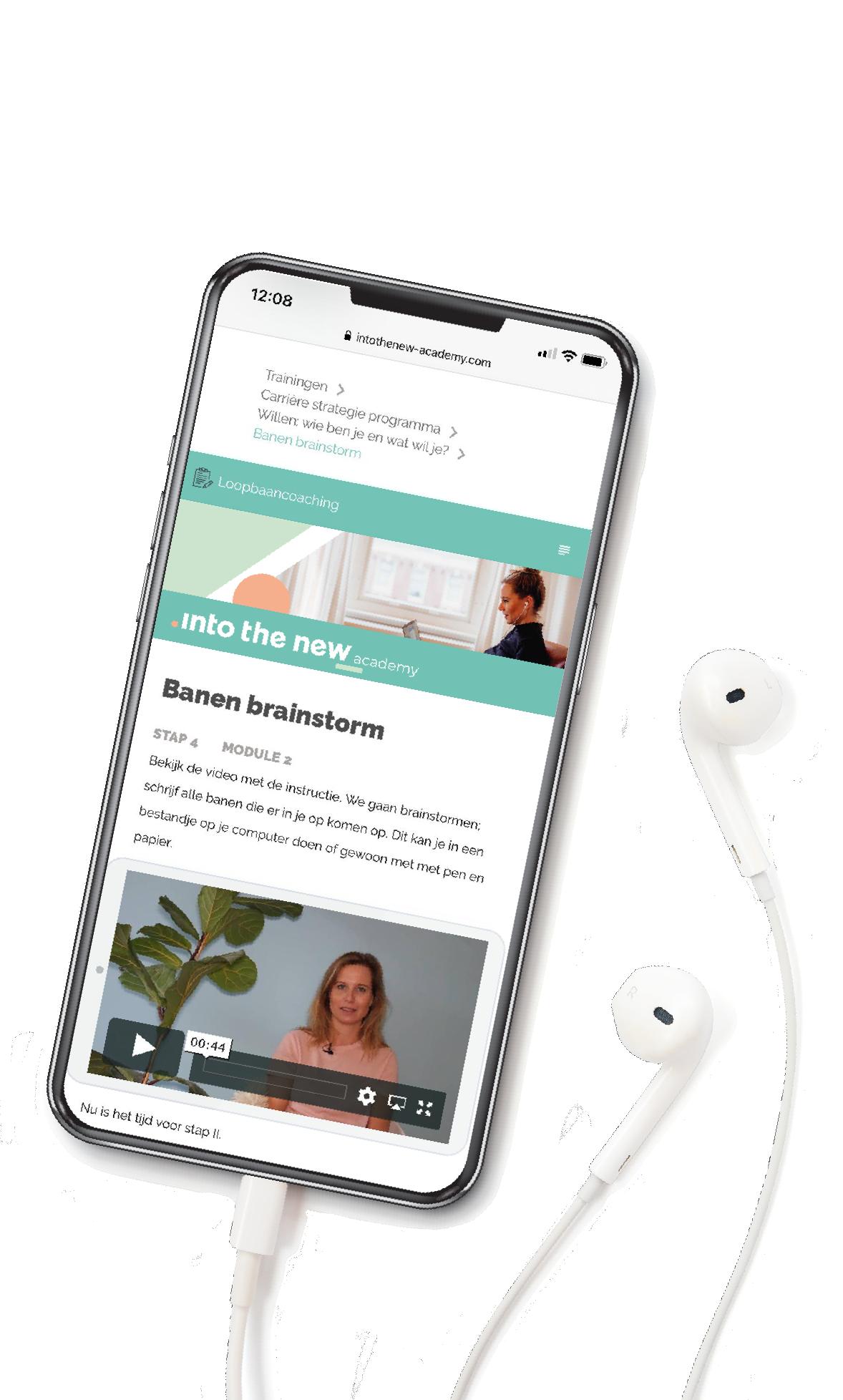 INTOTHENEW online Training op je smartphone