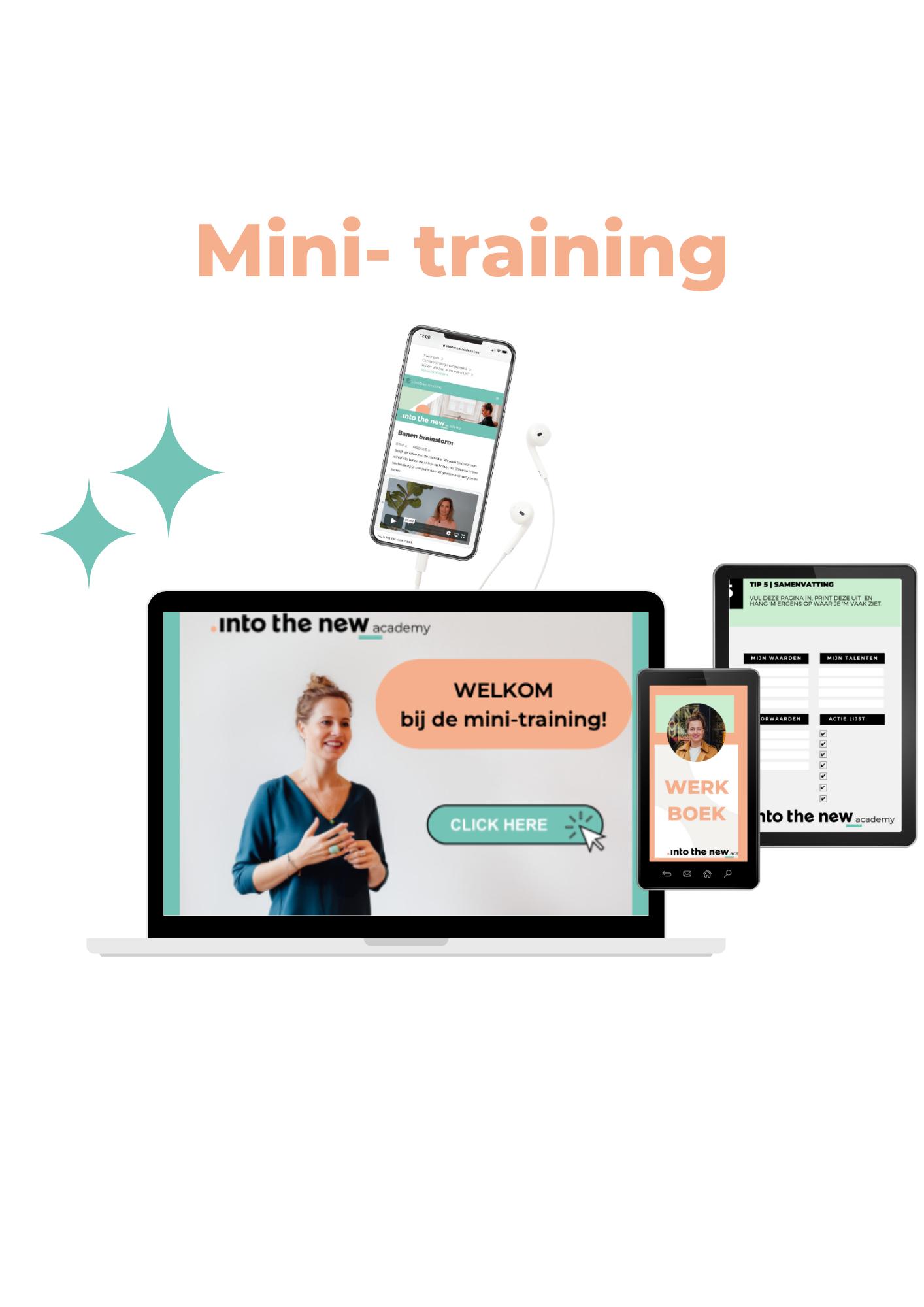 Mini training laptop - smartphone en tablet